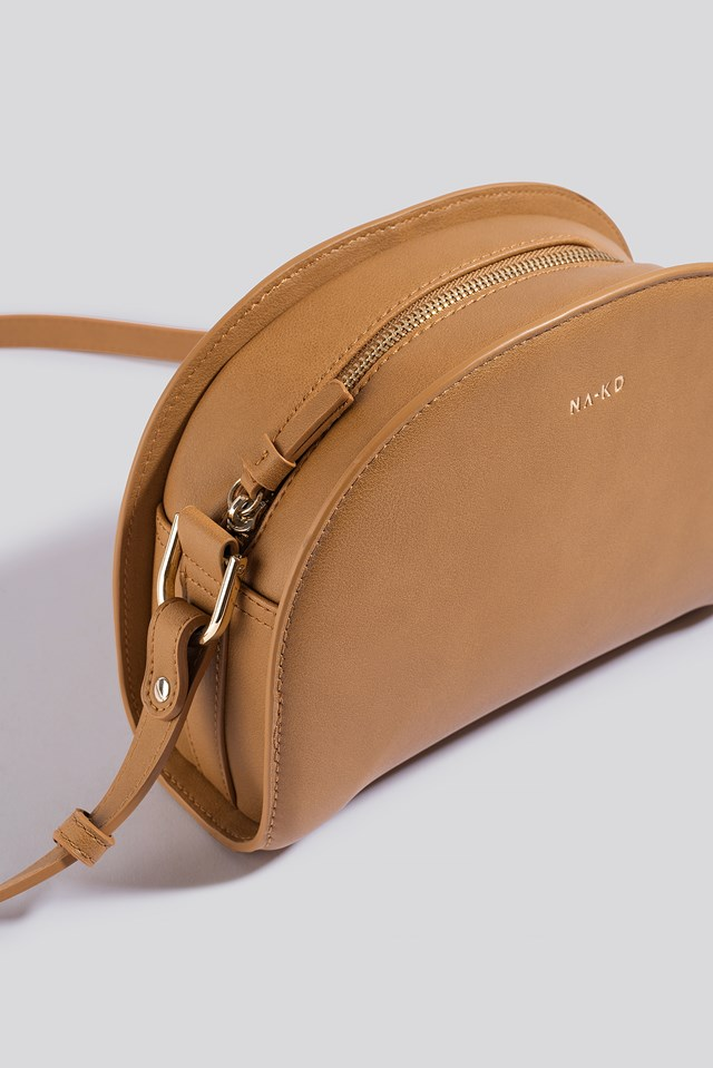 Half Moon Crossbody Bag Camel