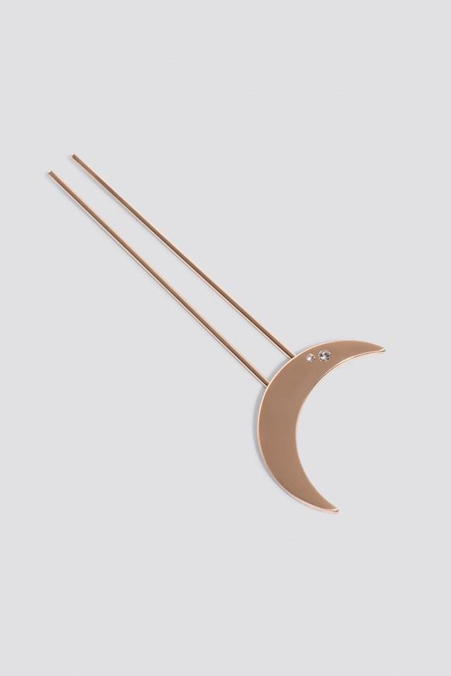 Half Moon Hair Pin Gold