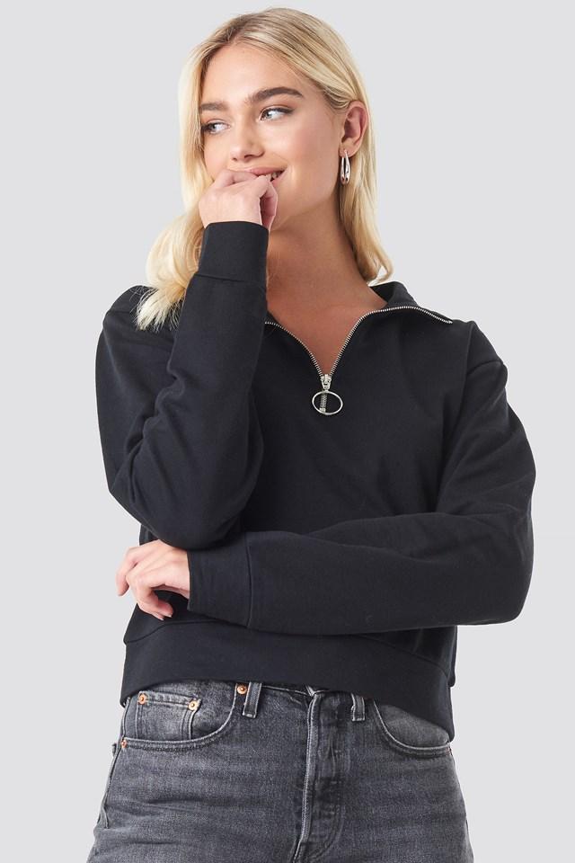 Half Zip Pullover Black