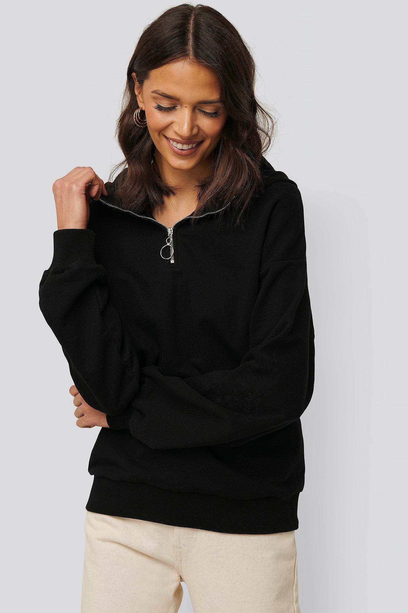 NA-KD Kapuzenpulli - Black | Bekleidung > Pullover > Kapuzenpullover | NA-KD