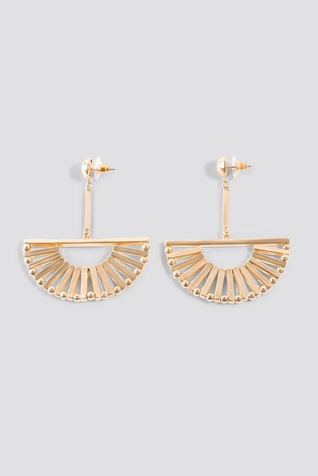 Halfmoon Bars Earrings Gold
