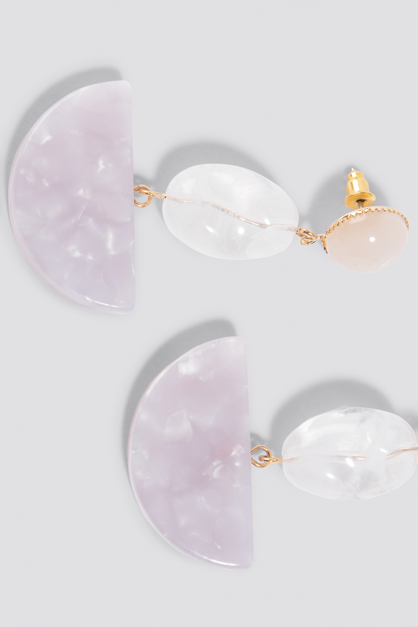 Halfmoon Stone Earrings  NA-KD.COM