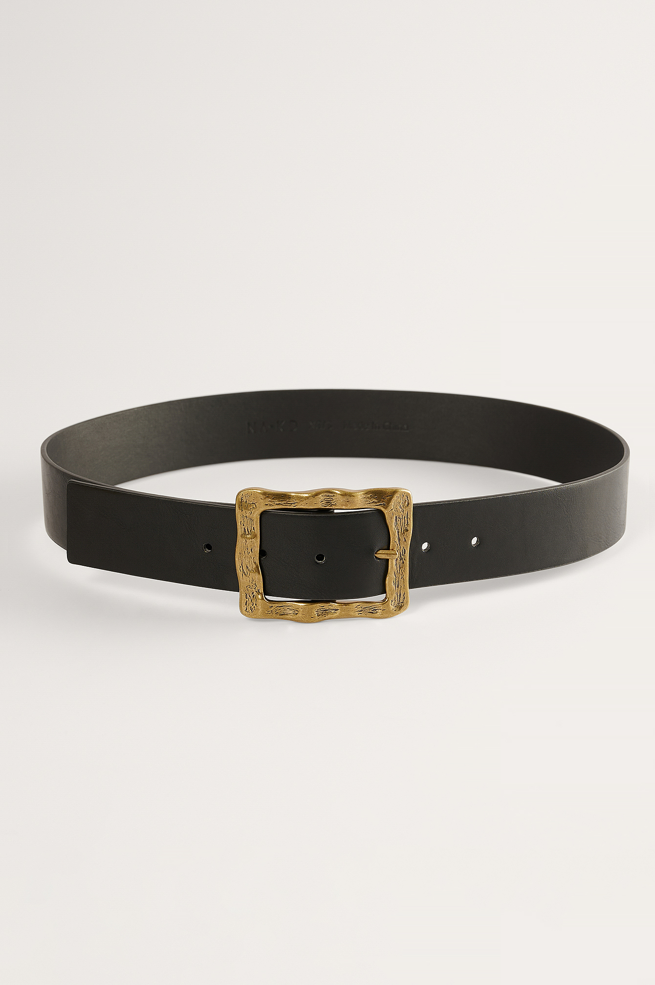 Black Hammered Buckle Belt