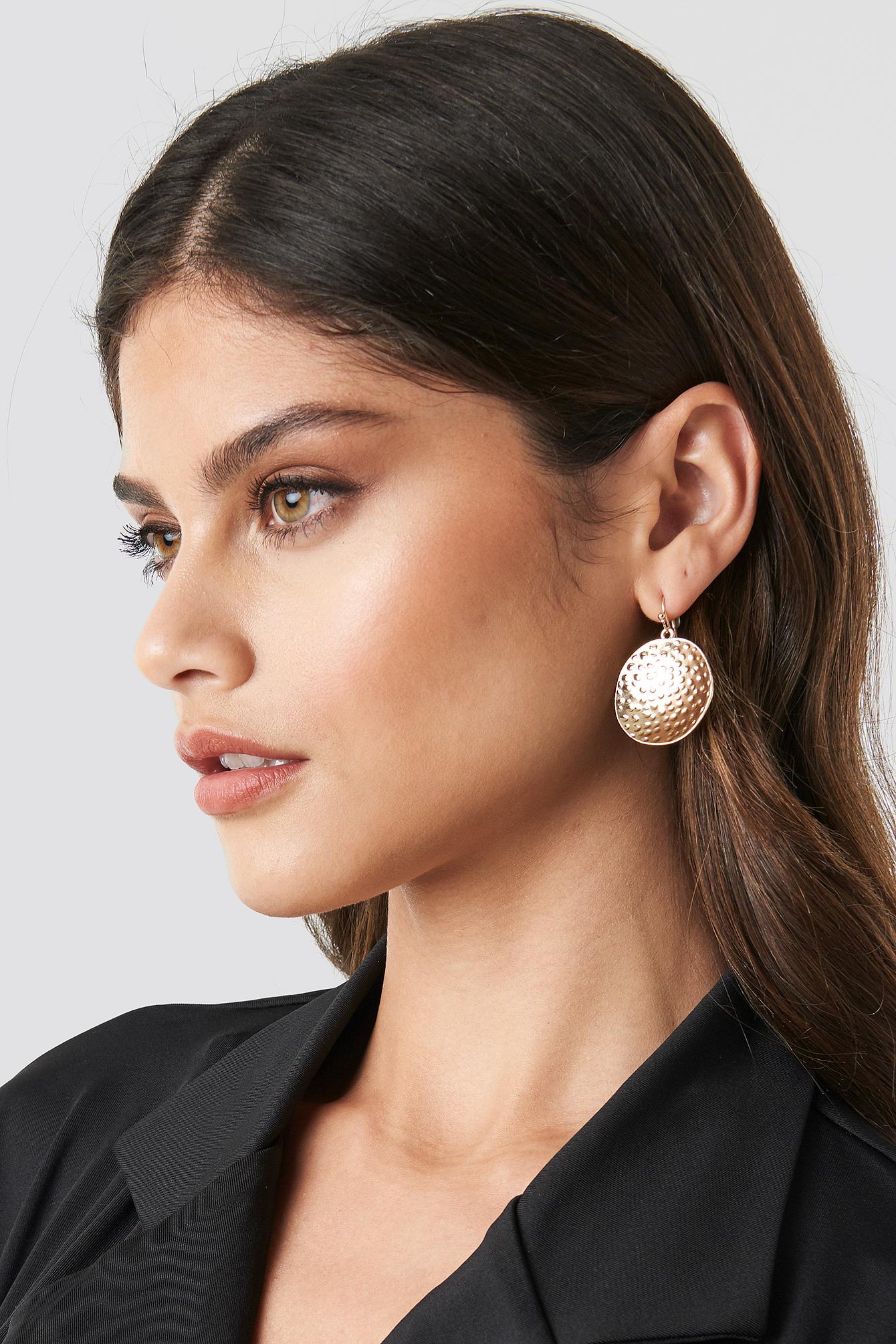 Hammered Plate Earrings NA-KD.COM