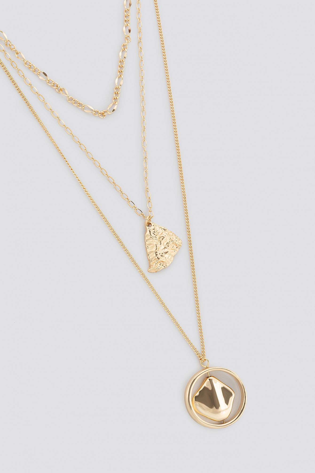 Hammered Plate Lay Necklace NA-KD.COM