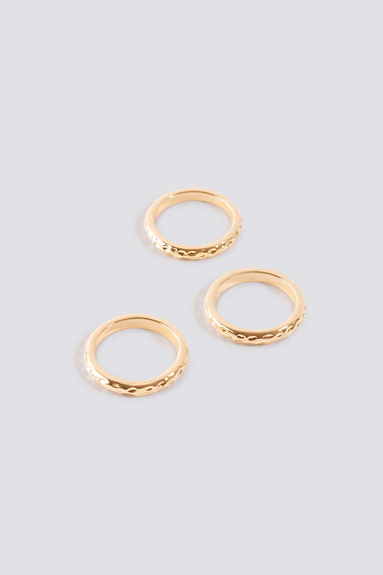 Hammered Slim Rings NA-KD.COM