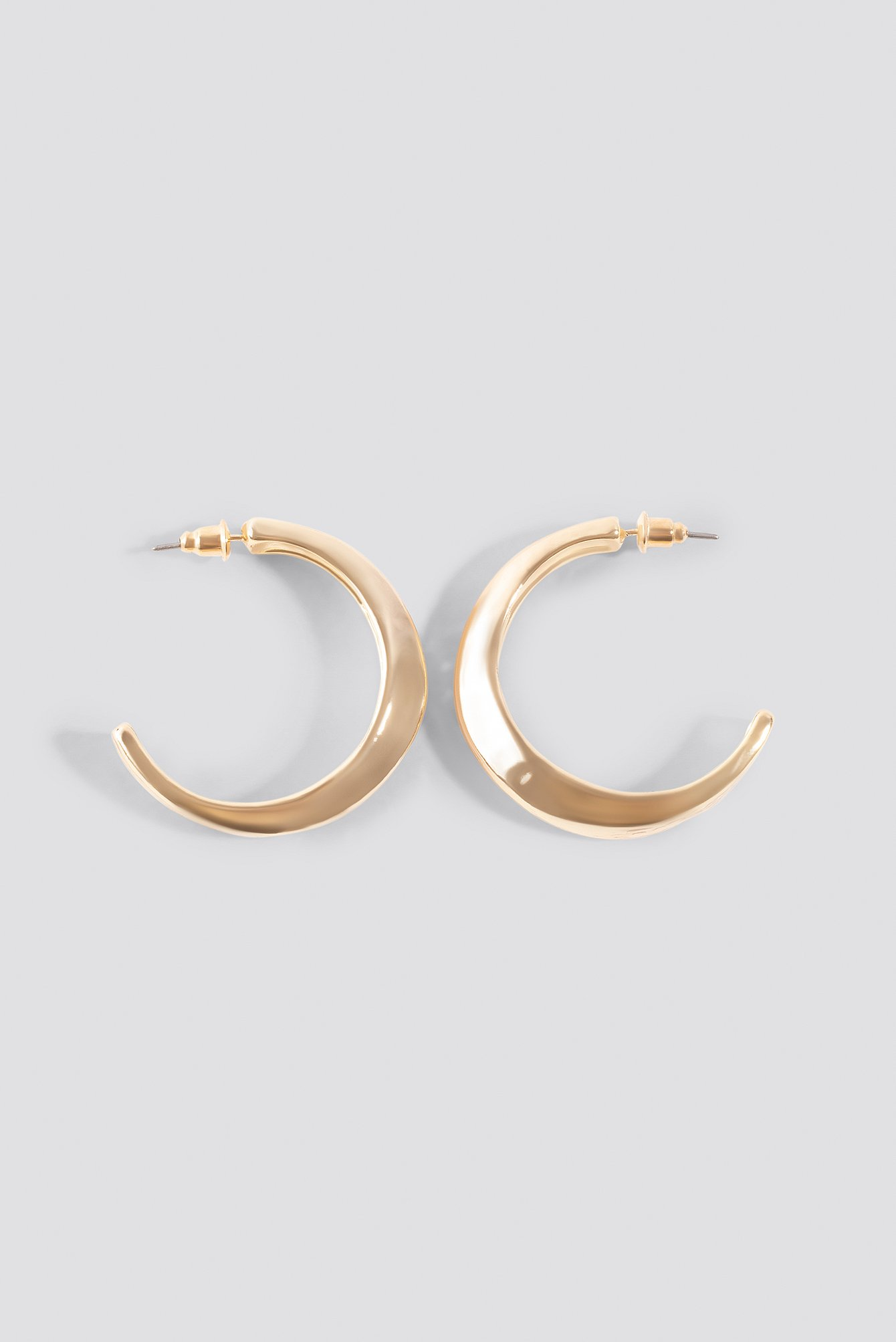 Hammered Uneven Chunky Hoops NA-KD.COM