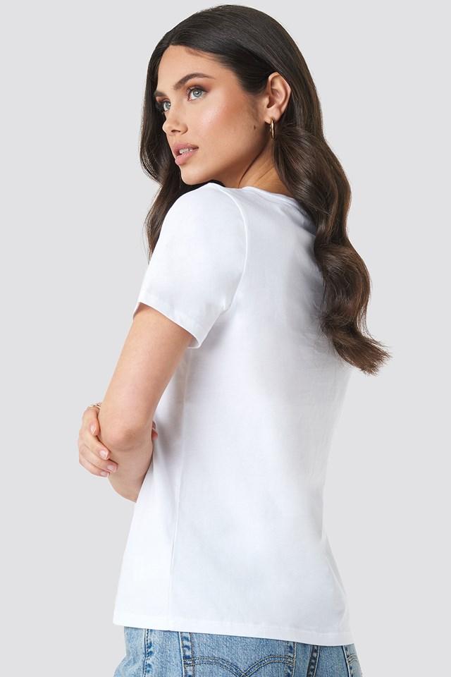 Hand Drawn T-shirt Optical White