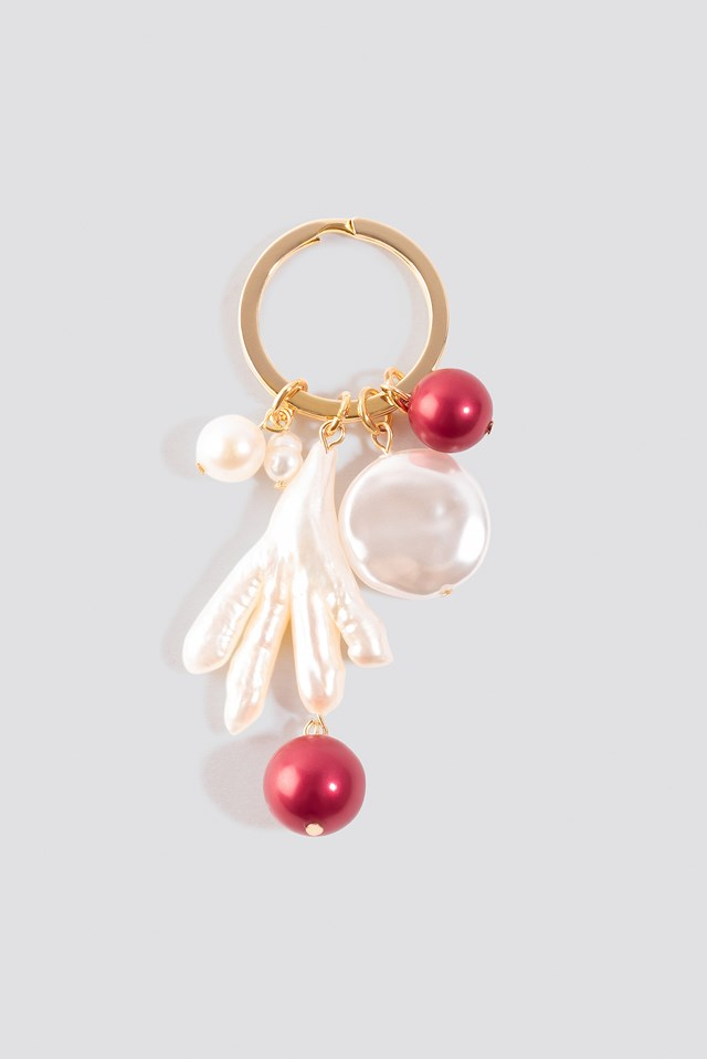 Hand Shell Keychain Gold