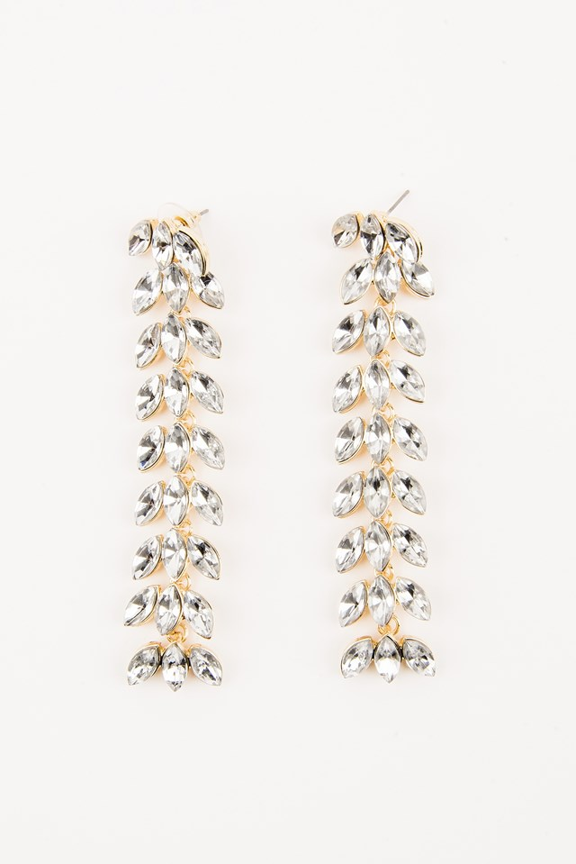Hanging Leaves Diamond Earrings NA-KD.COM