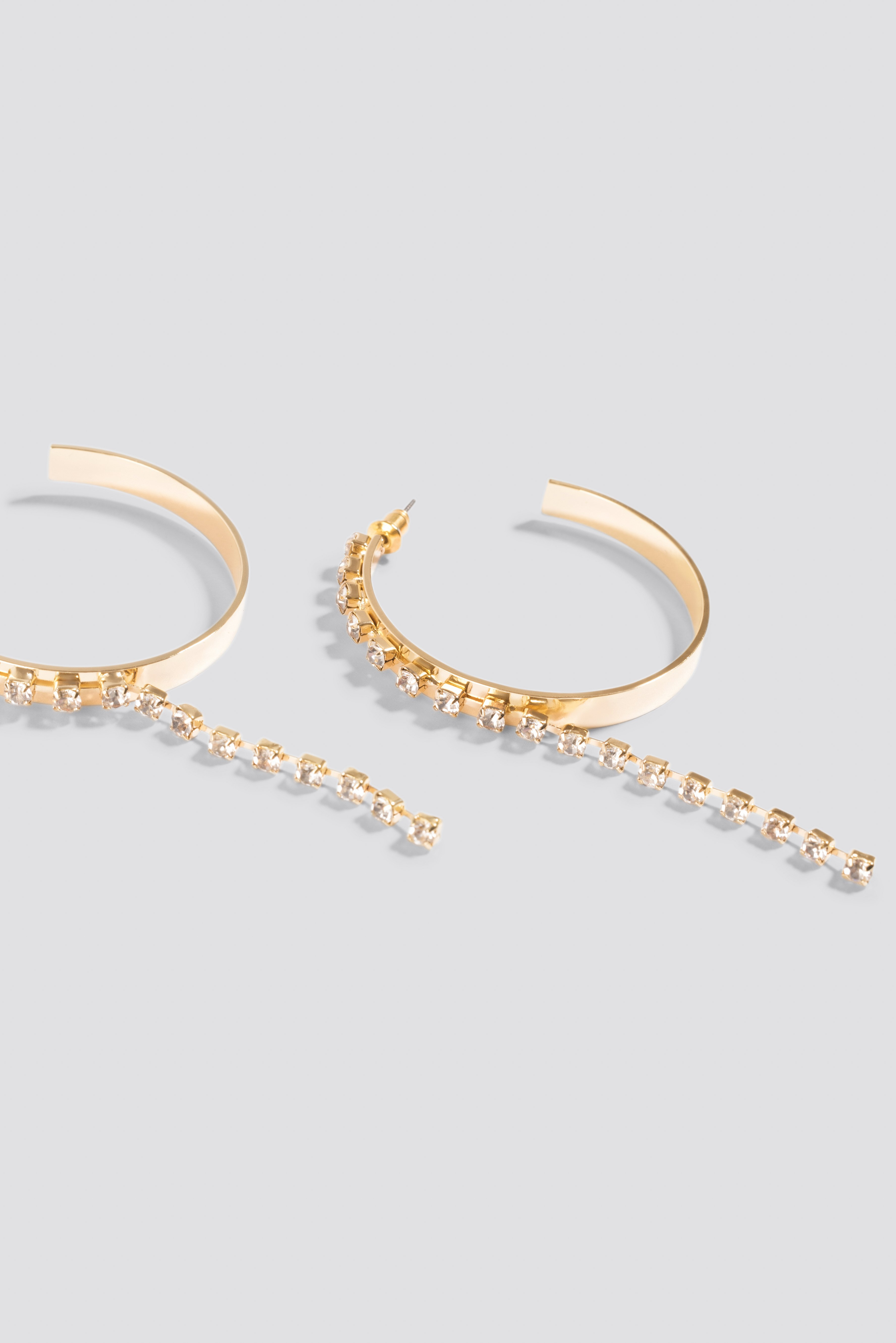 Hanging Rhinestone Hoop Earrings NA-KD.COM