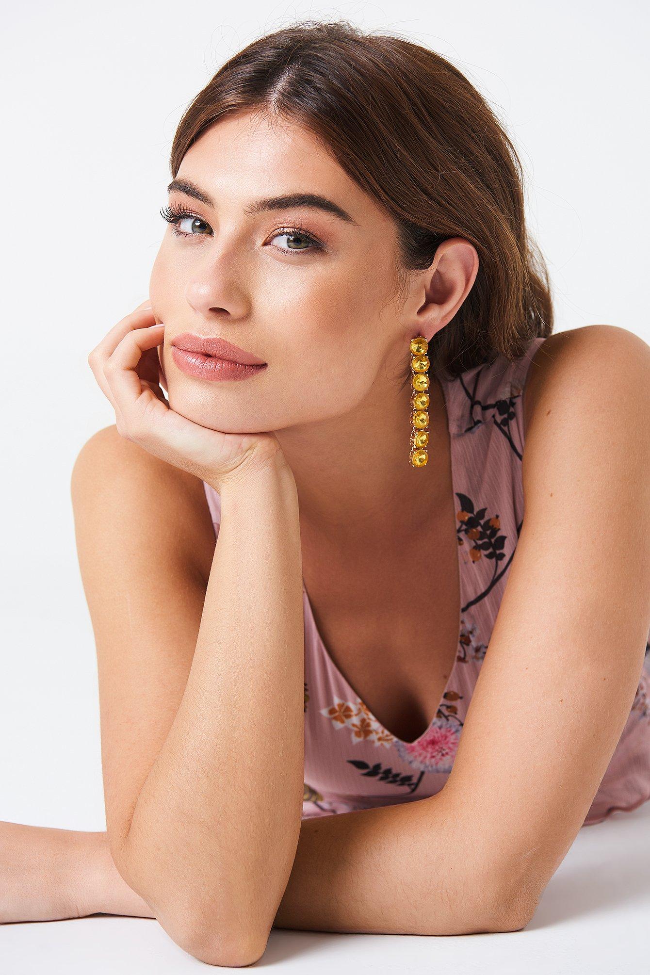 Hanging Row Stone Earrings NA-KD.COM