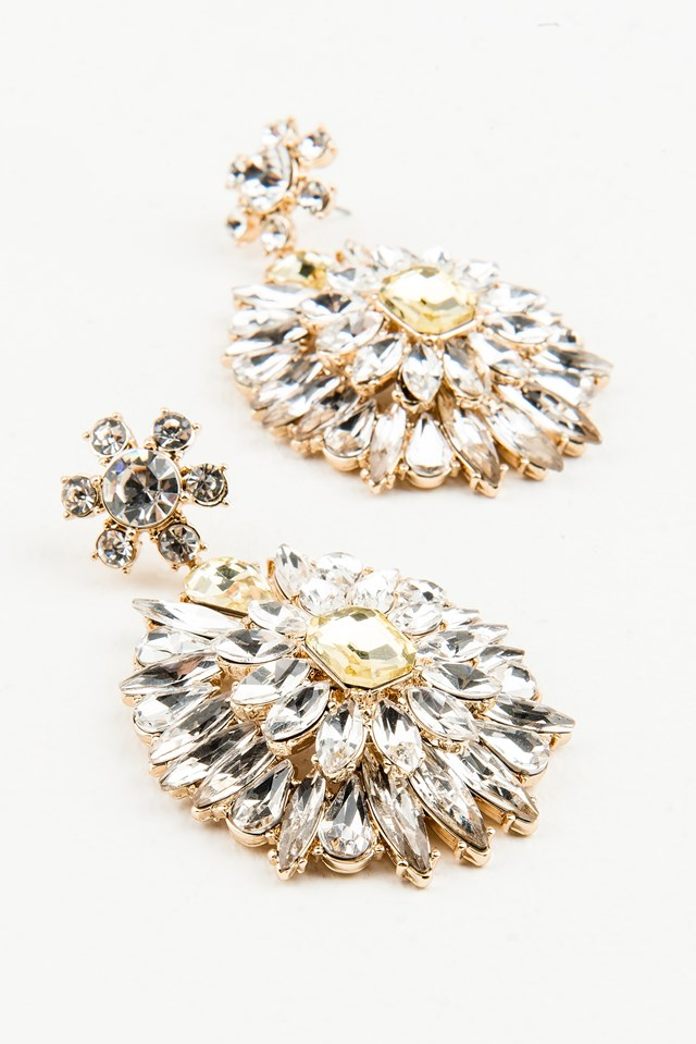 Hanging Sparkle Earrings Gold