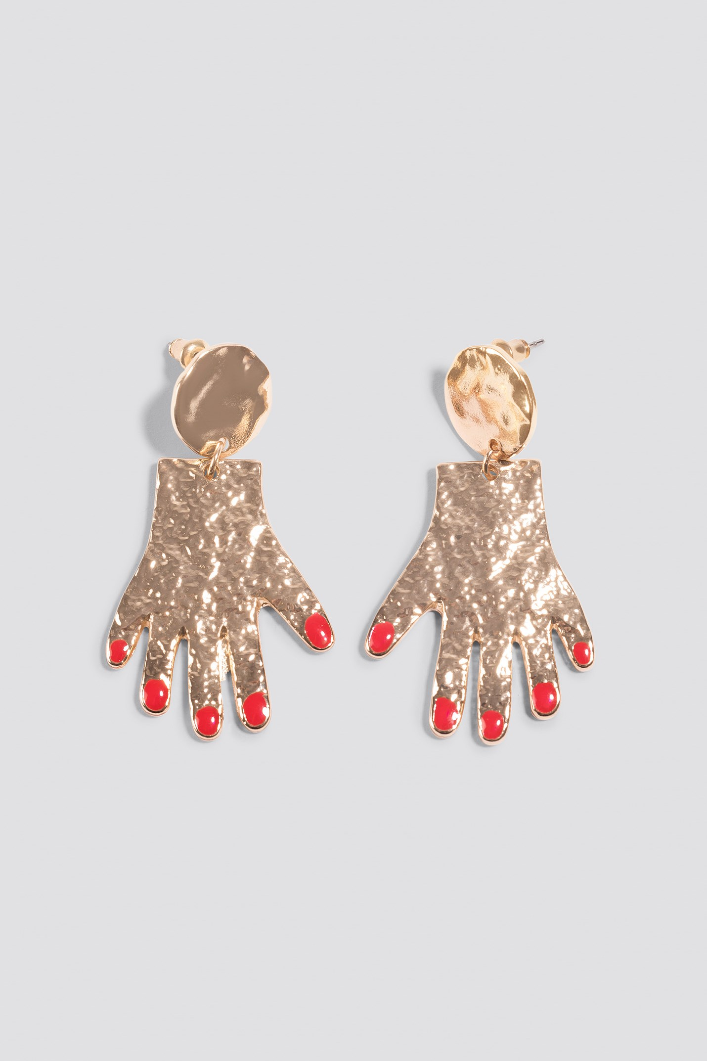Hanging Structured Hands Earrings NA-KD.COM