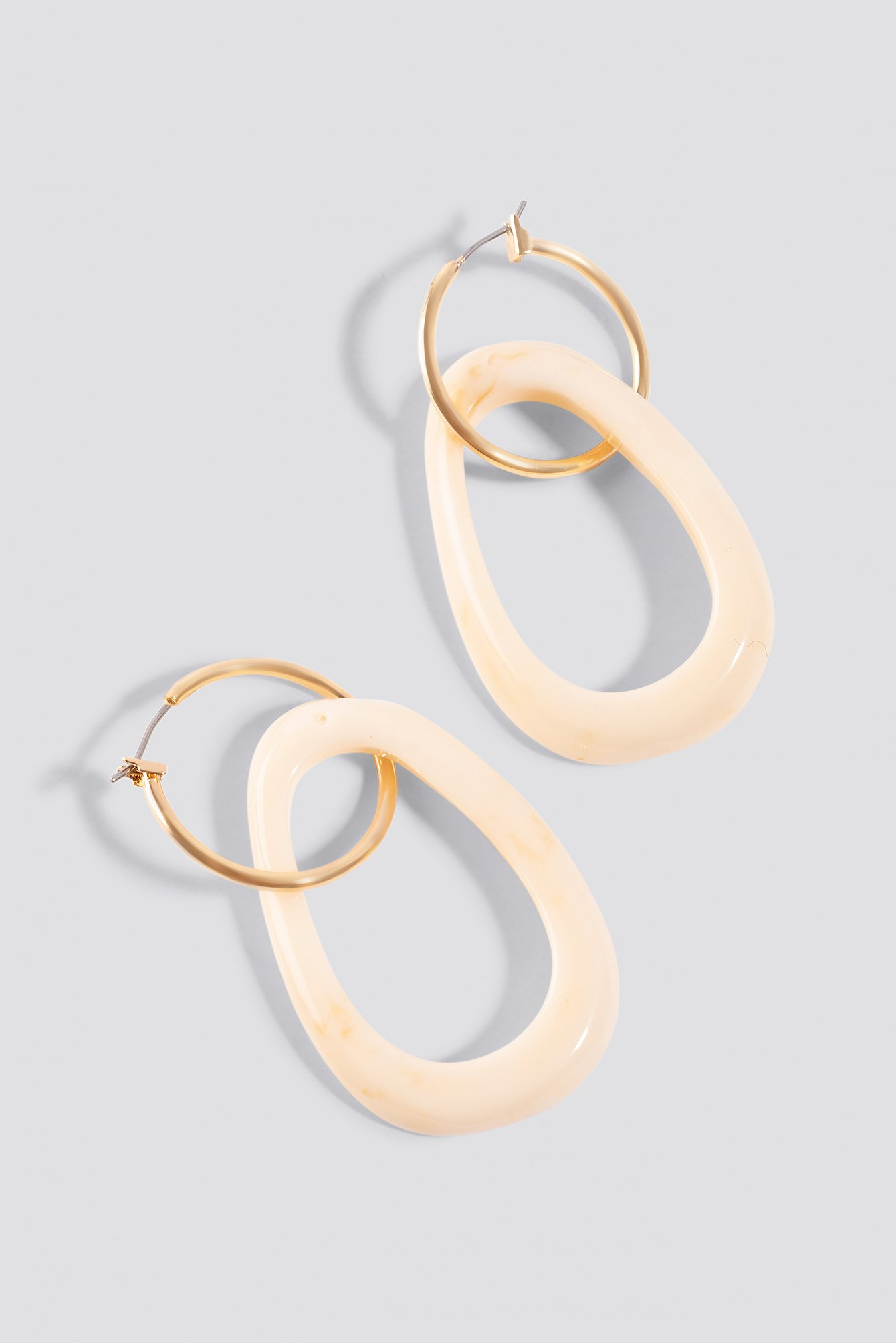 Hanging Tortoise Hoop Earrings NA-KD.COM