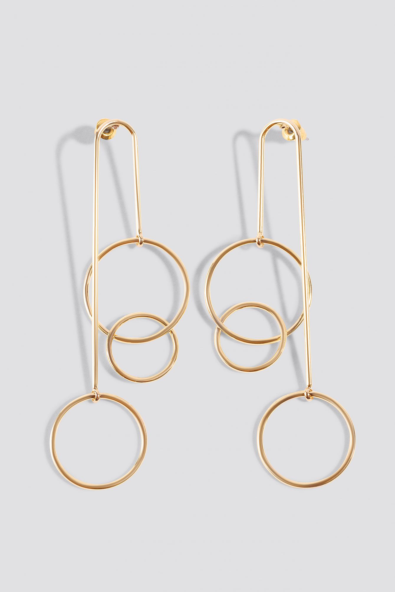 Hanging Triple Hoop Earrings NA-KD.COM