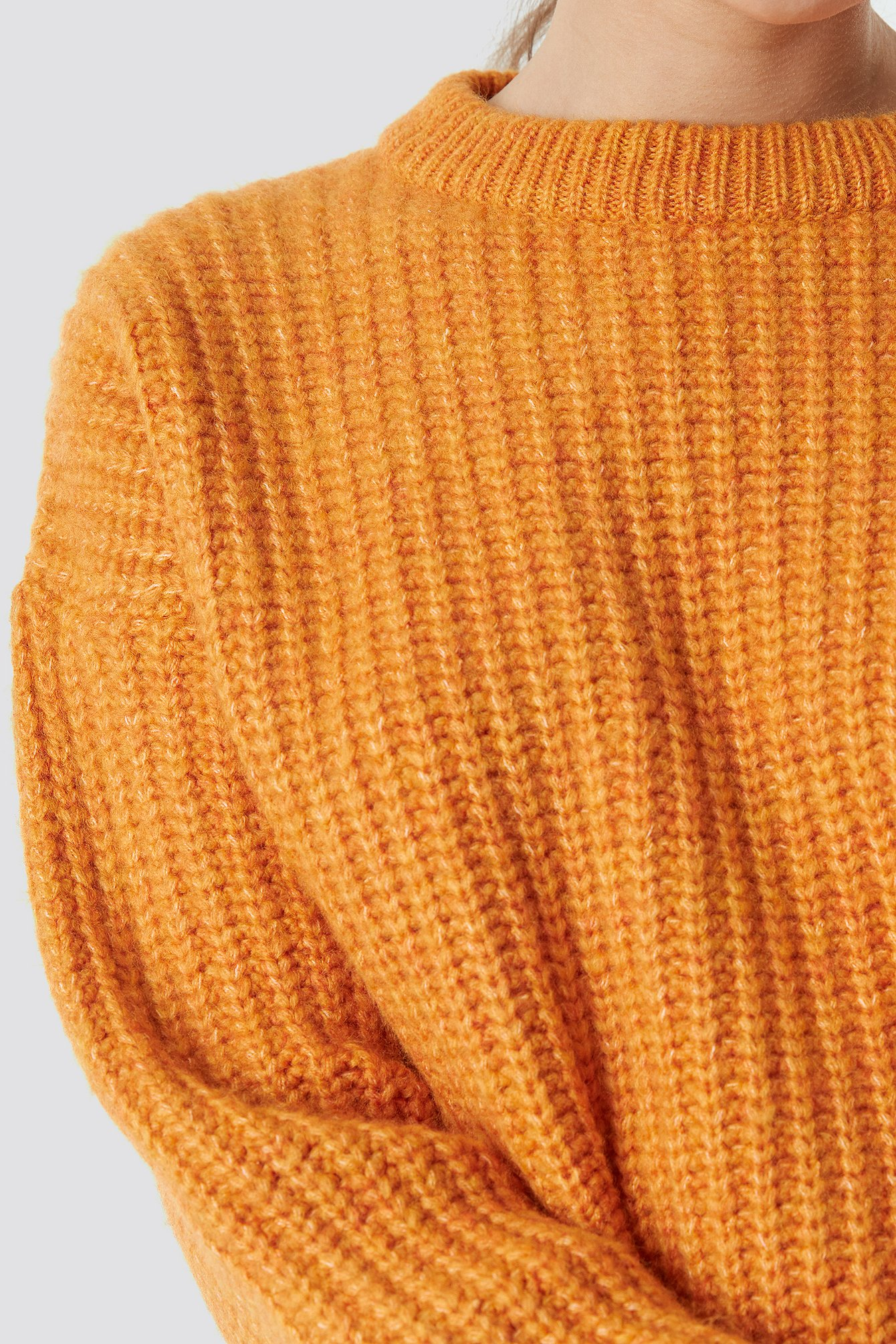 Heavy Knit Round Neck Sweater NA-KD.COM