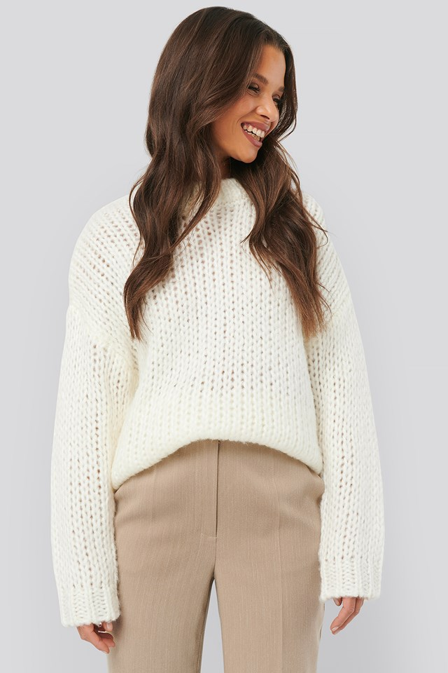 Heavy Knitted Sweater Offwhite