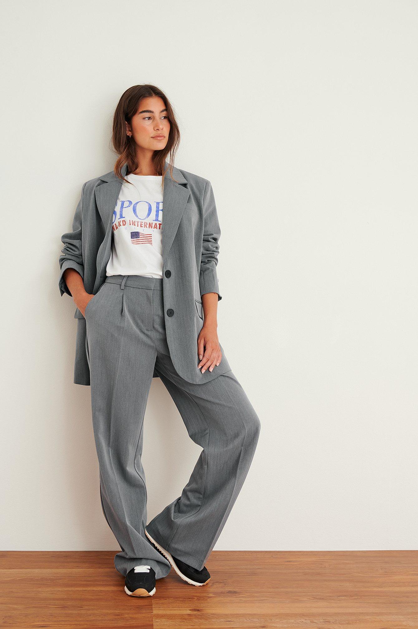 na-kd trend -  Anzughose - Grey
