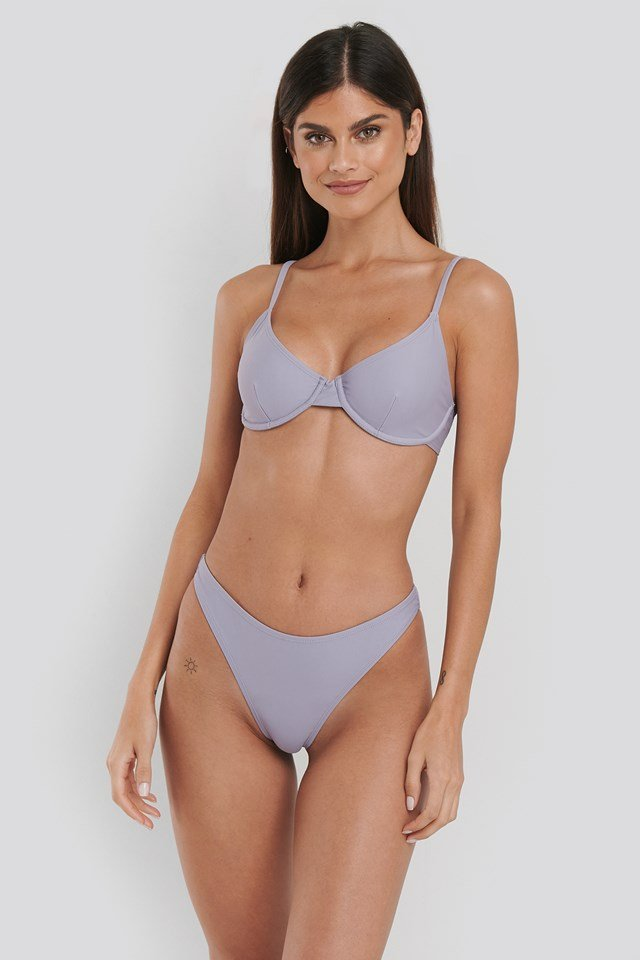 High Cut Bikini Panty Dusty Purple