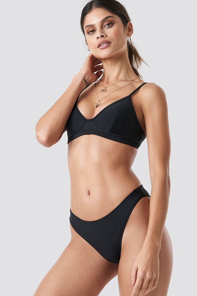 High Cut Bikini Panty Black
