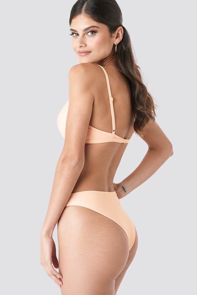 High Cut Bikini Panty Peach