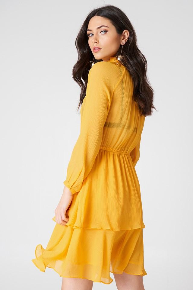 Sukienka z marszczoną stójką Citrus