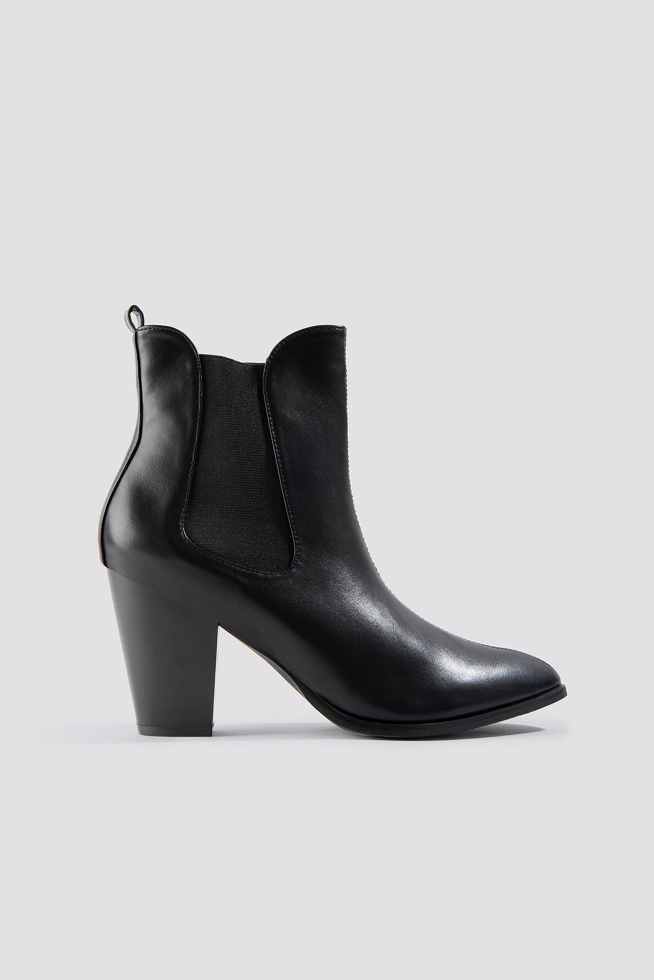 High Heel PU Boot NA-KD.COM