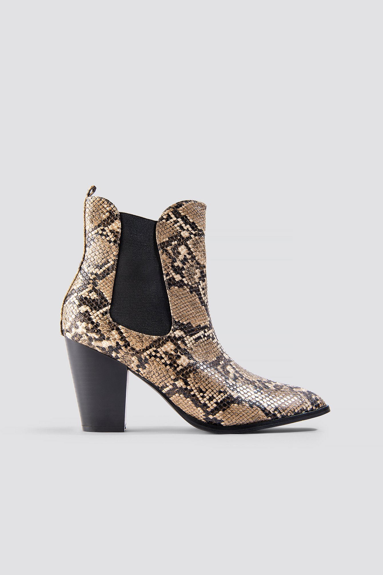 Na-kd High Heel Pu Boot Multicolor In Snake