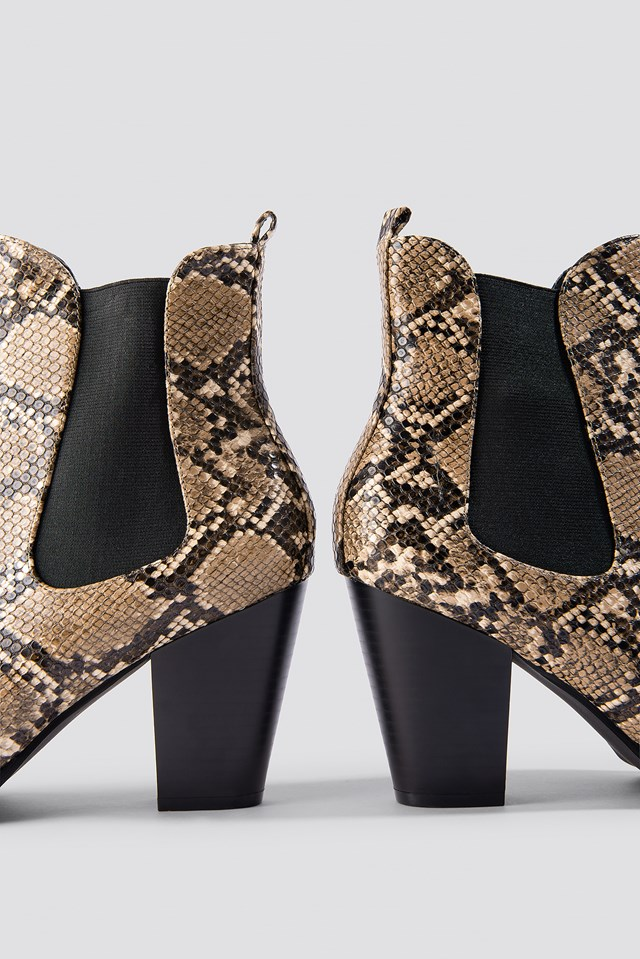 High Heel PU Boot Snake