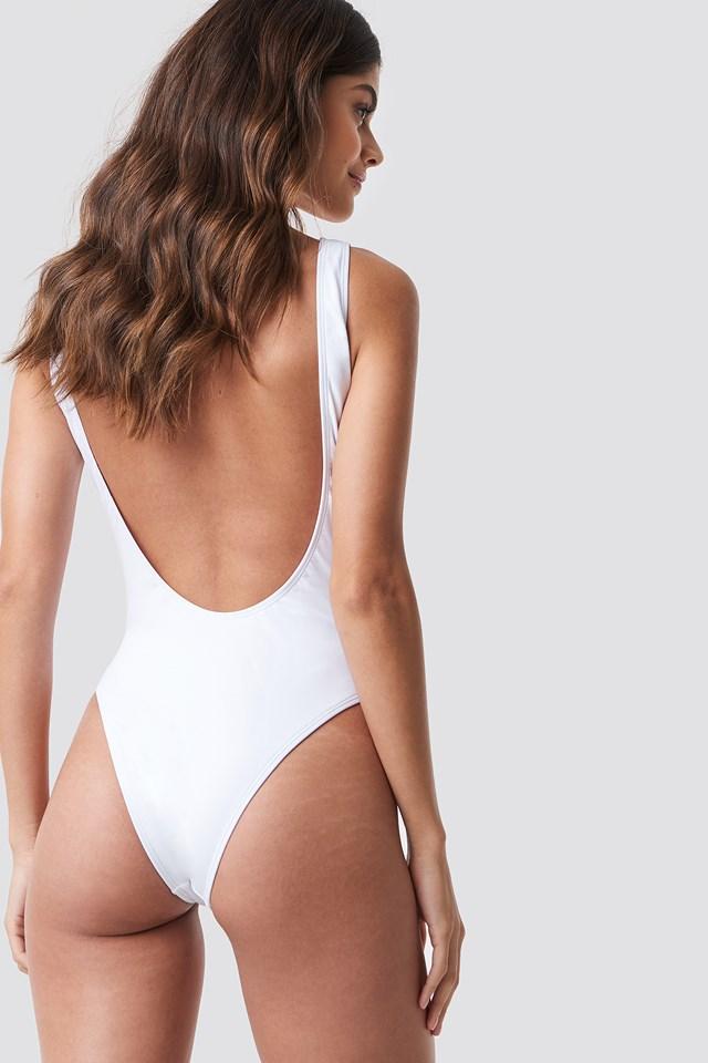 High Leg Swimsuit White