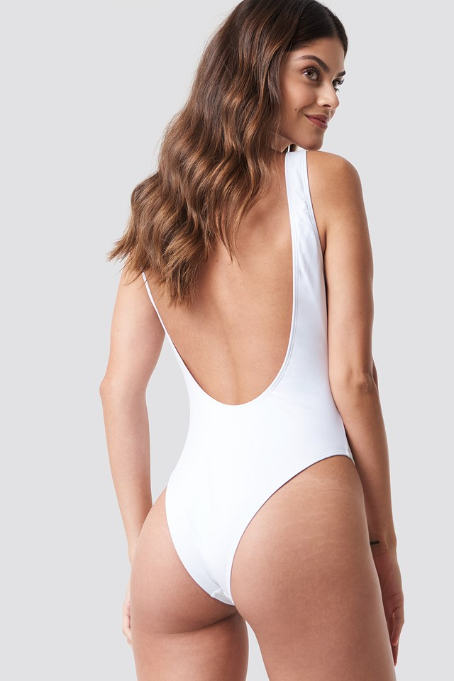 High Leg Swimsuit White