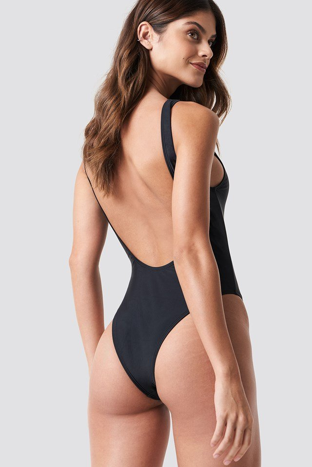 High Leg Swimsuit Black