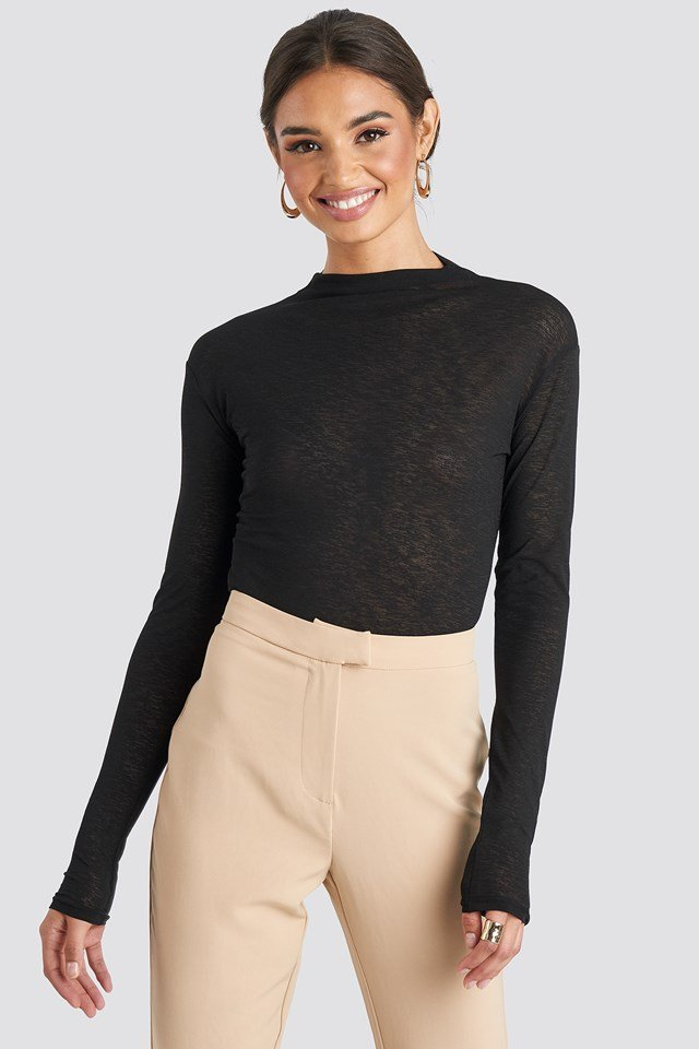 High Neck Basic Top NA-KD Trend