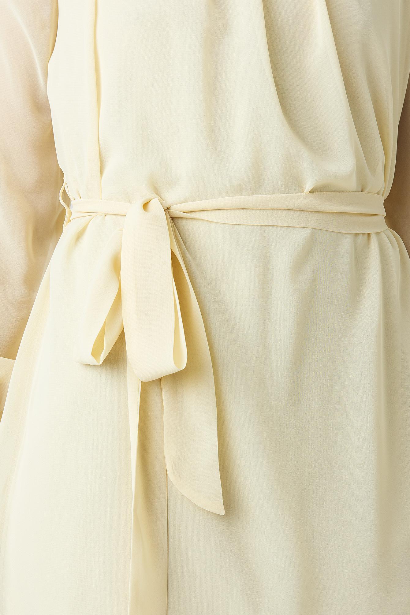 High Neck Belted Chiffon Dress NA-KD.COM