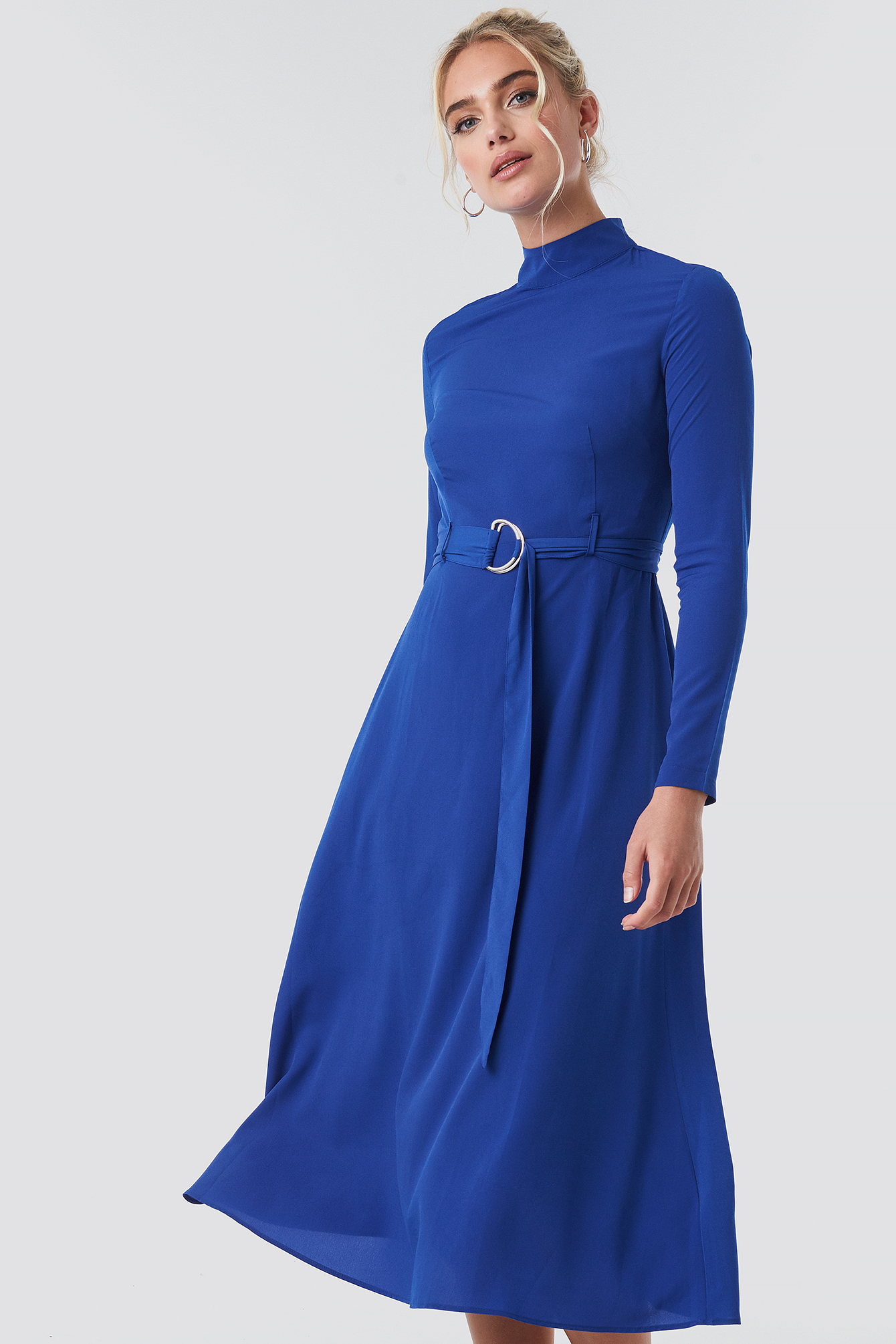 High Neck Belted Maxi Dress NA-KD.COM