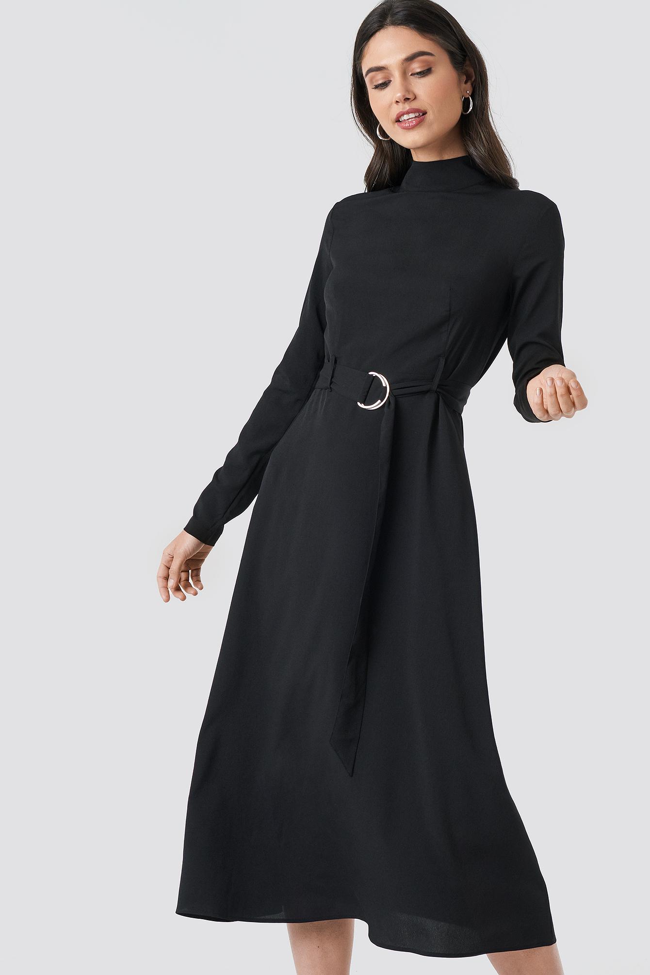 High Neck Belted Maxi Dress NA-KD.COM