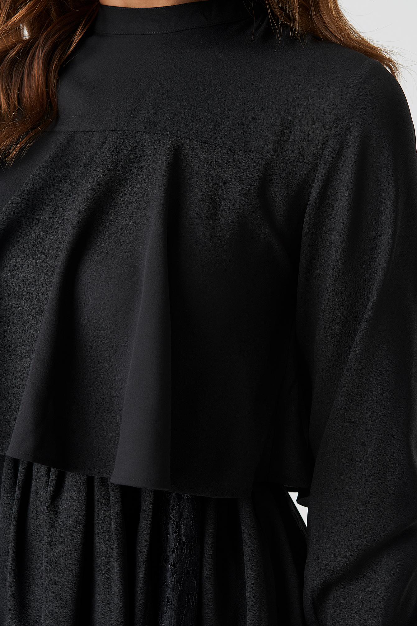 High Neck Lace Detail Midi Dress NA-KD.COM