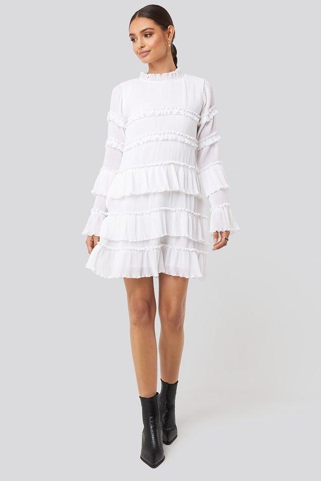 High Neck Layered Mini Dress NA-KD Party
