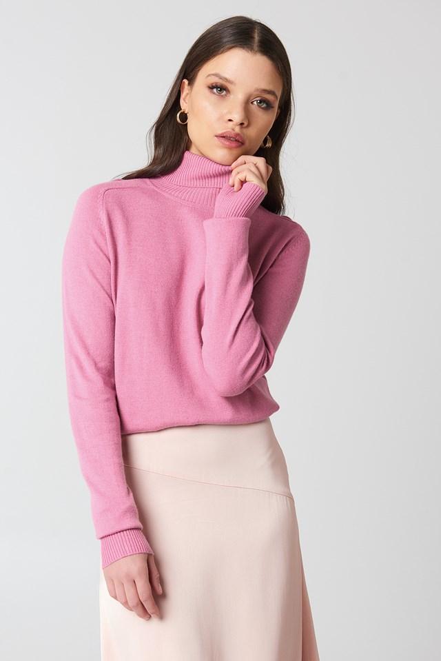 High Neck Light Knitted Sweater NA-KD.COM