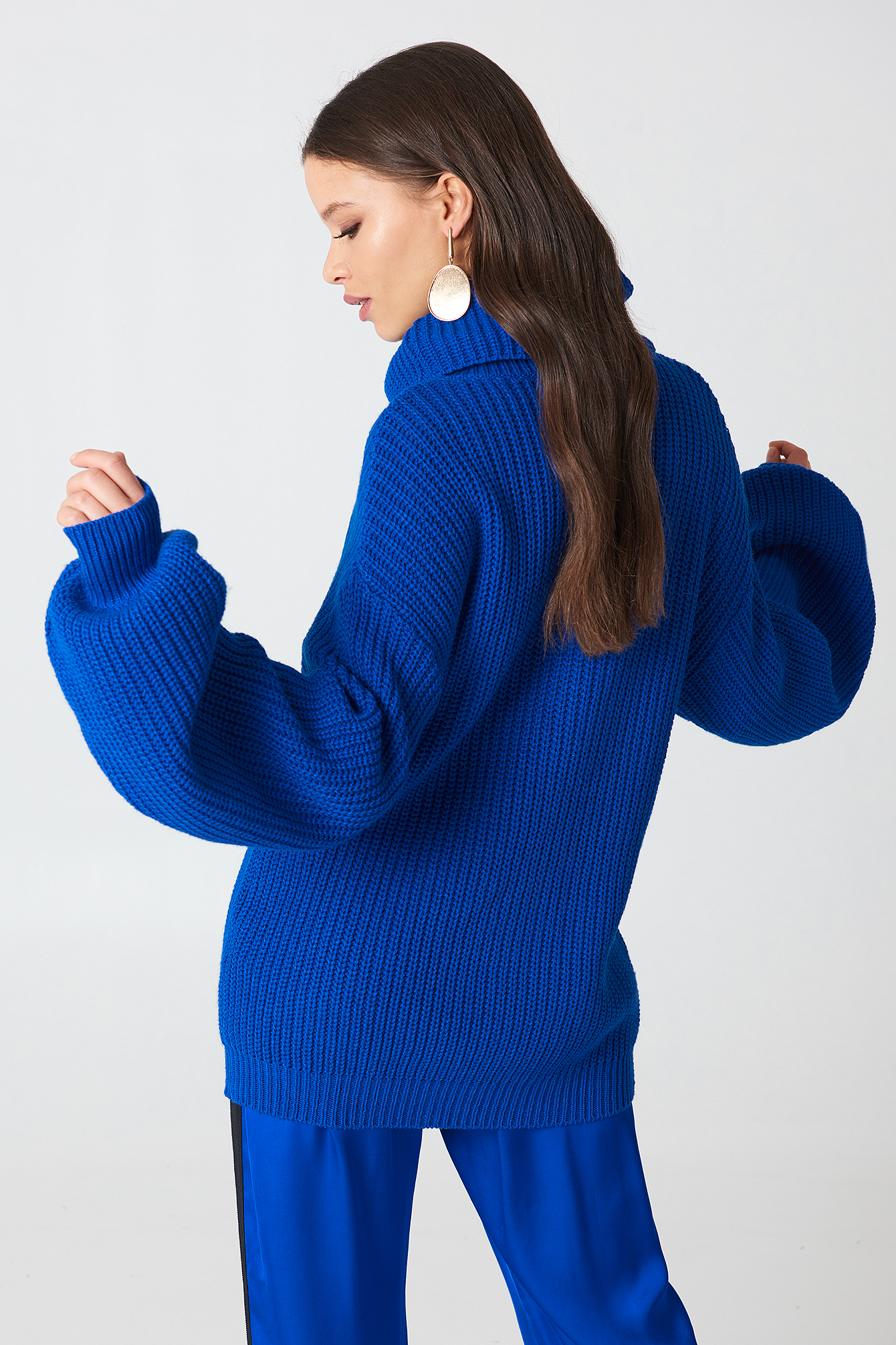 High Neck Oversized Knitted Sweater NA-KD.COM
