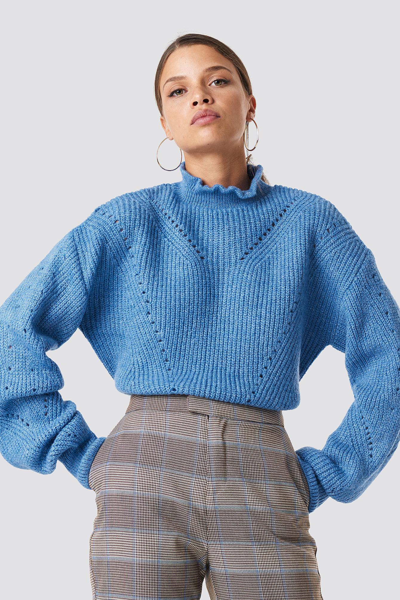 Sweter z dzianiny z golfem NA-KD.COM