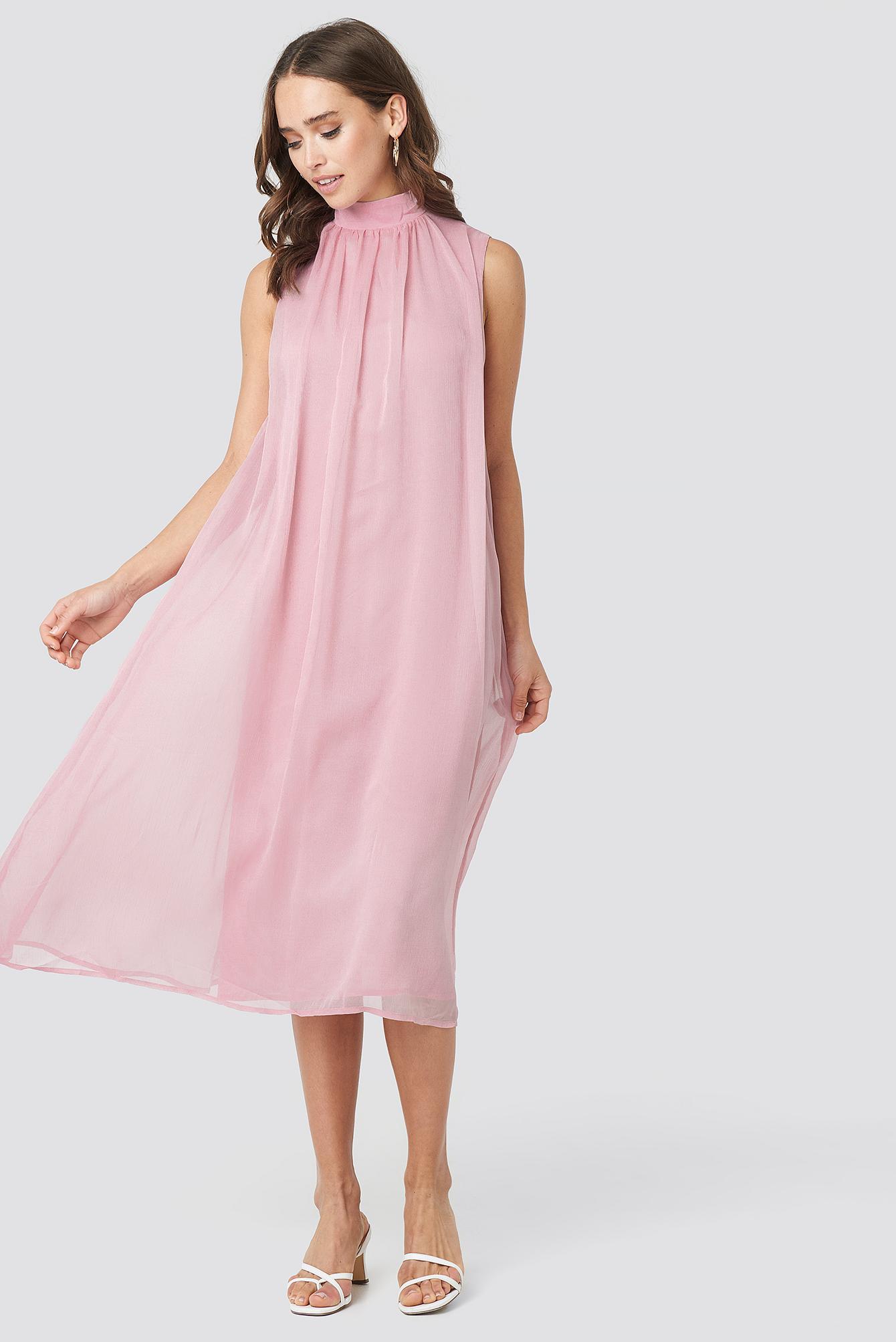 High Neck Pleated Dress NA-KD.COM