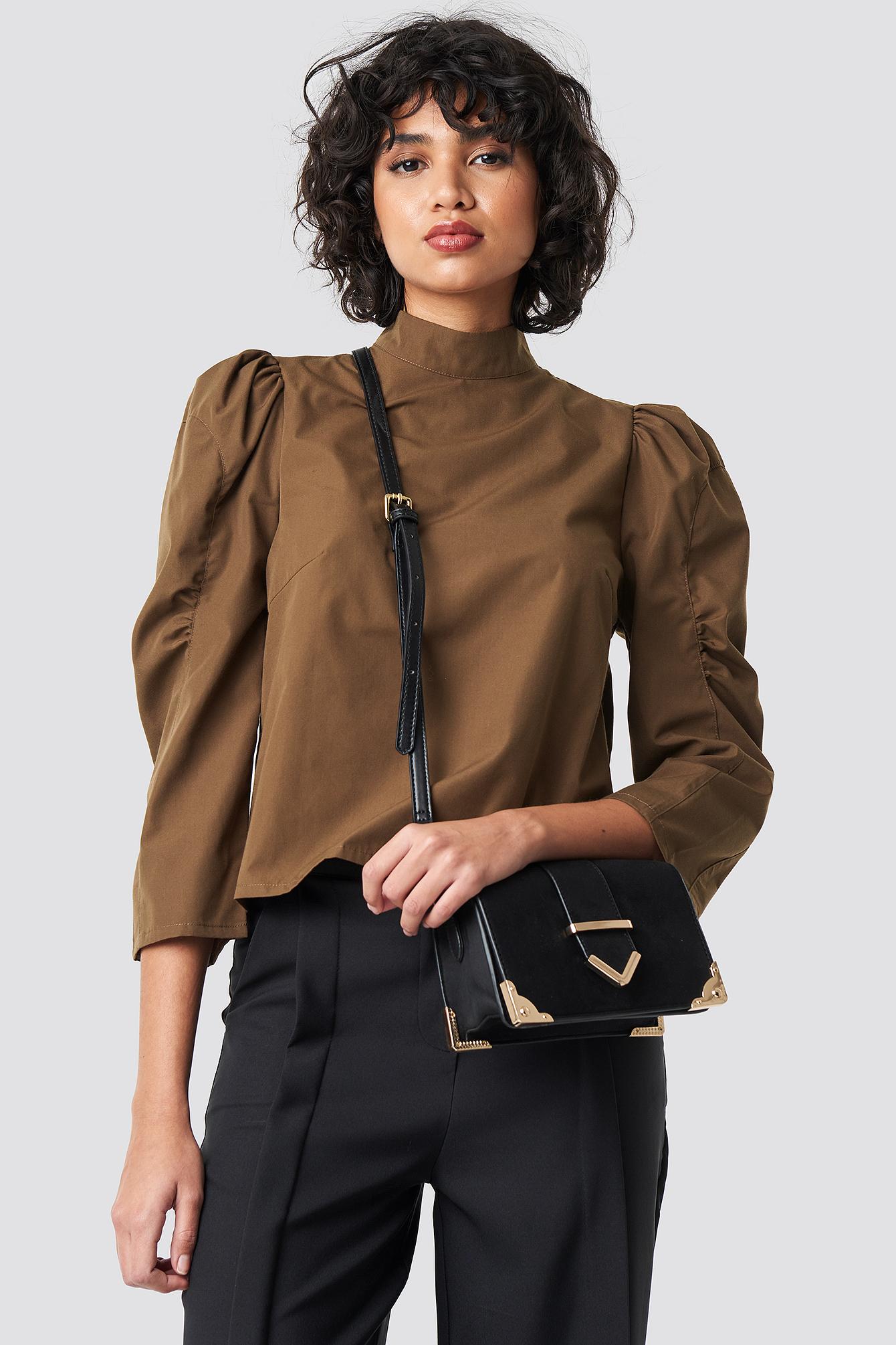 Kimono Collar Coat Black | na-kd.com