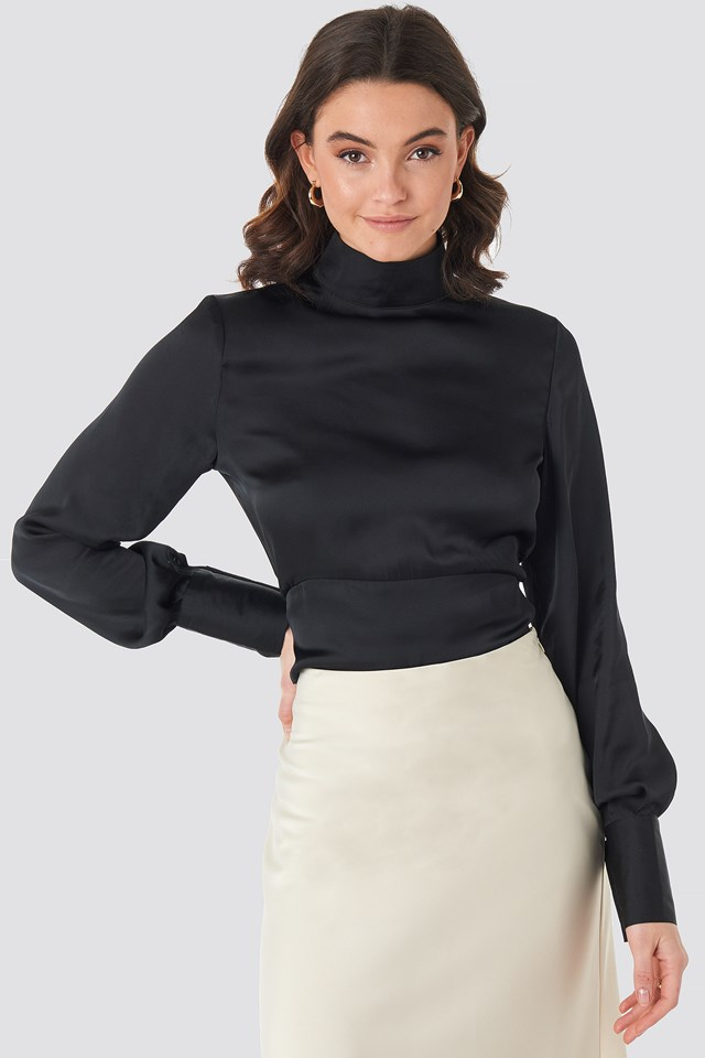 High Neck Shirt Black