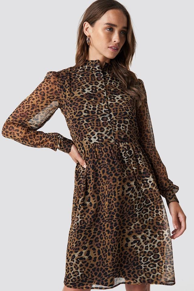 High Neck Shirt Dress NA-KD.COM