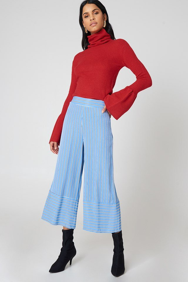 Cold Shoulder Knitted Sweater Bright Red