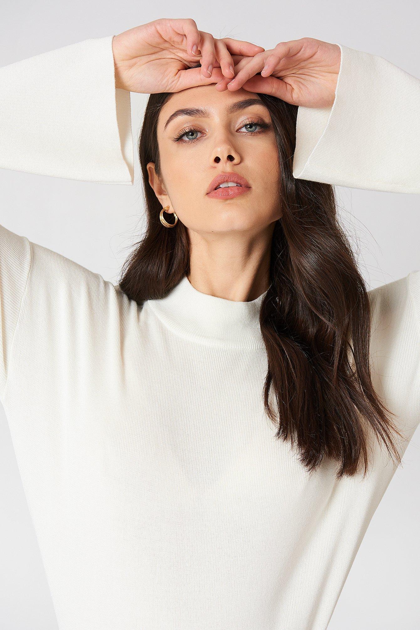 High Neck Wide Sleeve sweater NA-KD.COM