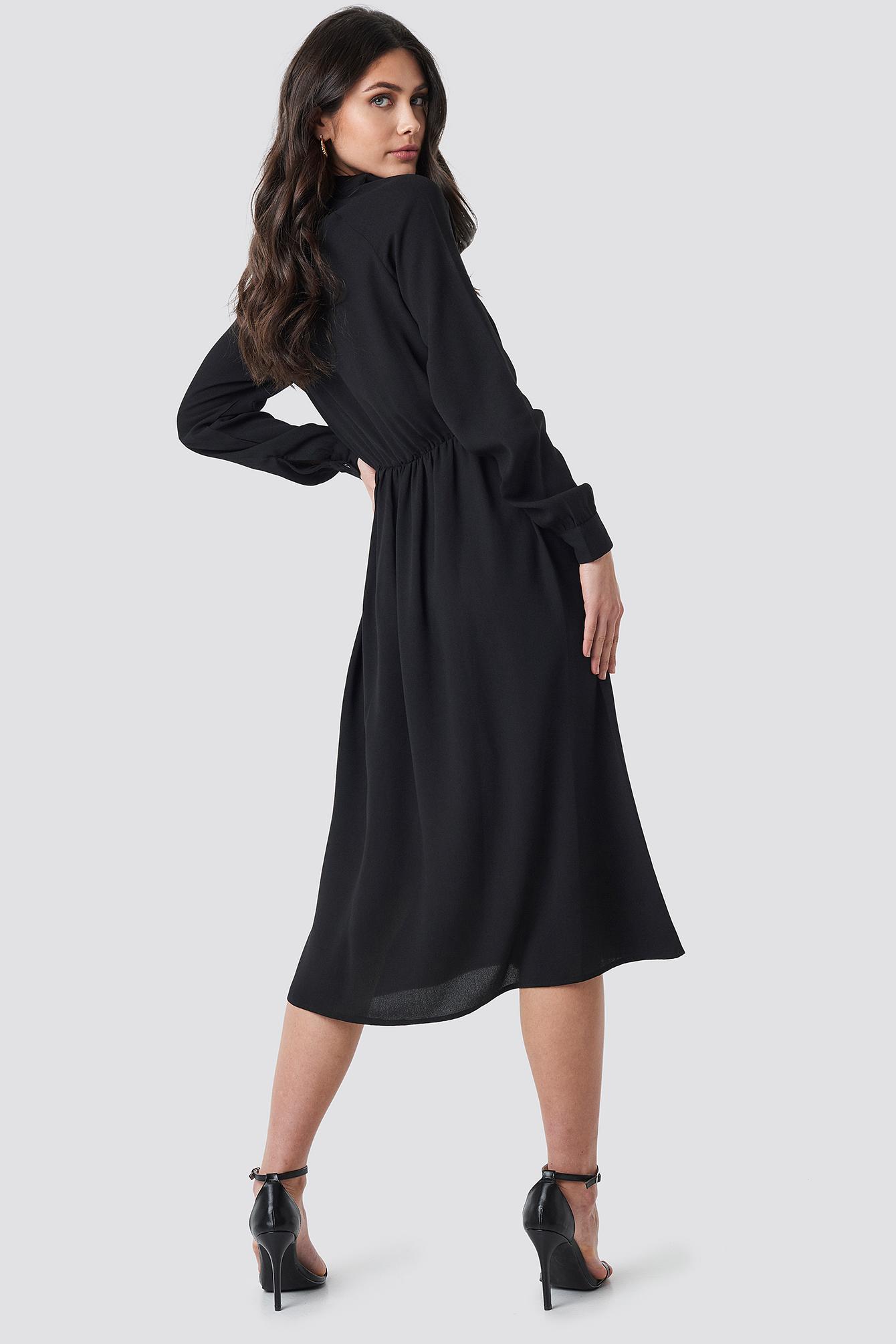 High Neck Zip Front Ankle Dress NA-KD.COM