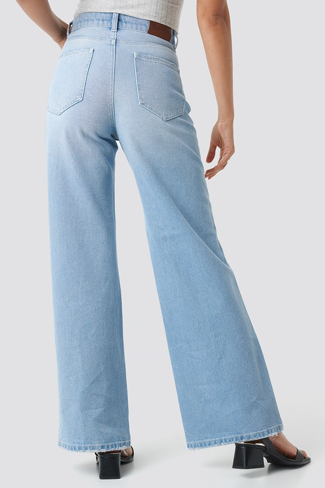 High Rise Flare Jeans Light Blue
